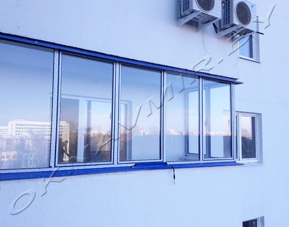 Наши работы. замена холодного остекления на теплое. = окнавм.